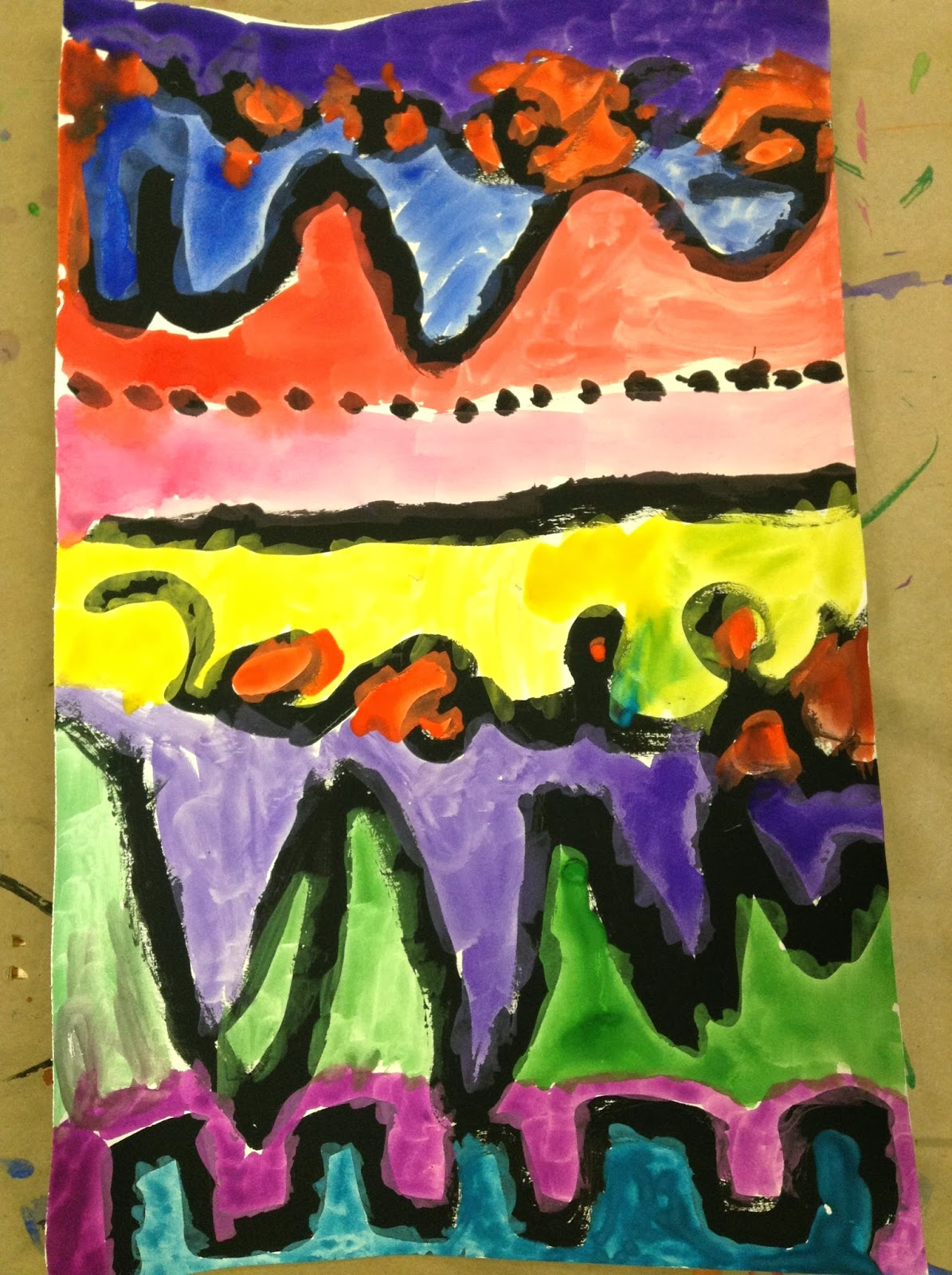 Line Art Painting : Ms wright s art class kindergarten line painting