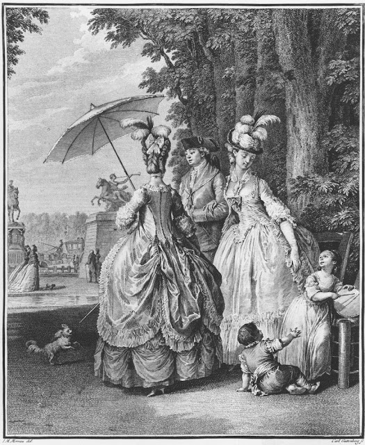 Robe A La Polonaise: Jean Michel Moreau. Le Rendezvous Pour Marly, 1776-83