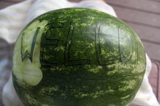 watermelon fruit carving