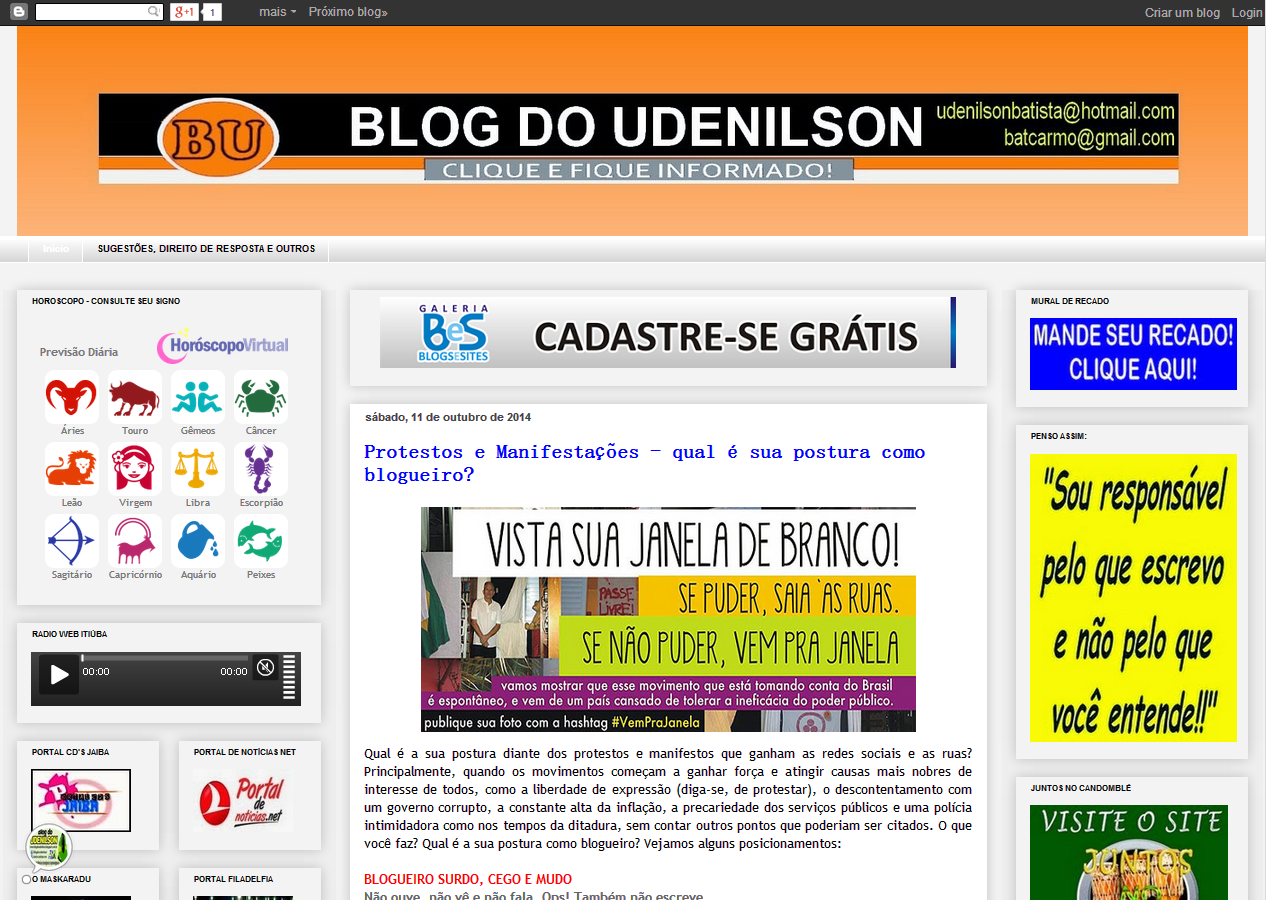 GALERIA - BLOGS E SITES