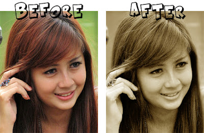 Tutorial for photoshop cara Manipulasi photo sephia