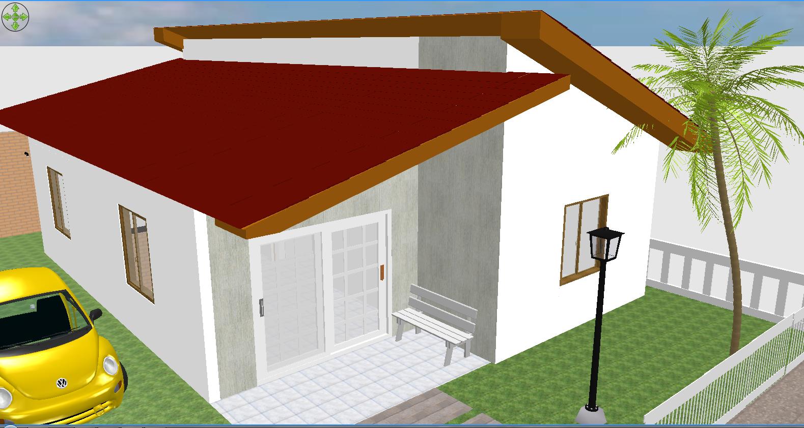 Projeto de casa com 2 dormitórios sala ampla área de serviço e  #691C04 1579 842