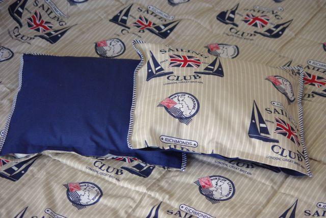 kapa na łóżko ikea , kapa patchwork, kapa w stylu marynistycznym, kapa styl marynistyczny, poduszki do kapy na łóżko,