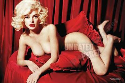 nude spread lohans lindsey magazine