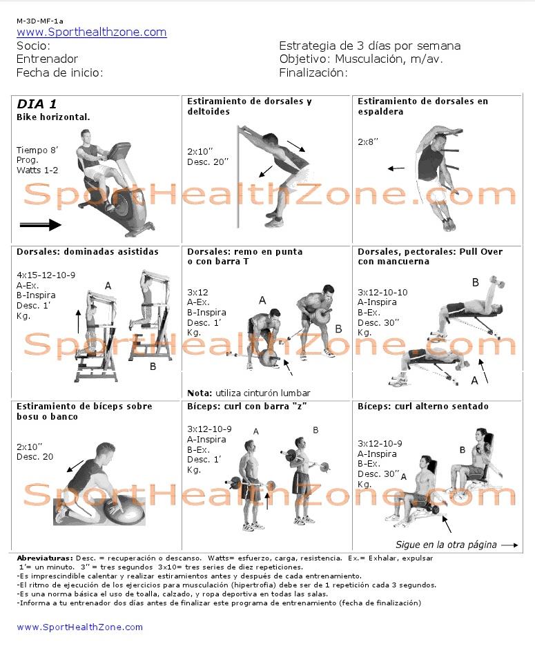 Ejercicios fitness wellness tablas de ejercicios for Gimnasio 8 de octubre