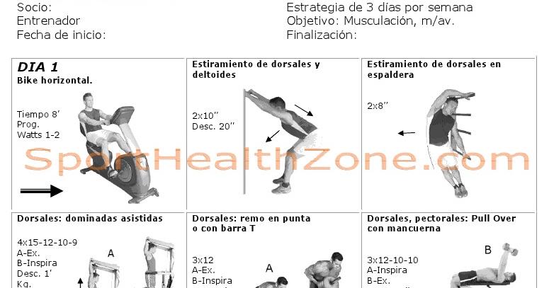 Entrenamiento fitness rutinas de ejercicios for Gimnasio 8 de octubre