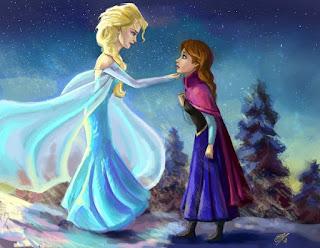 Gambar Elsa dan Anna Frozen wallpaper 8