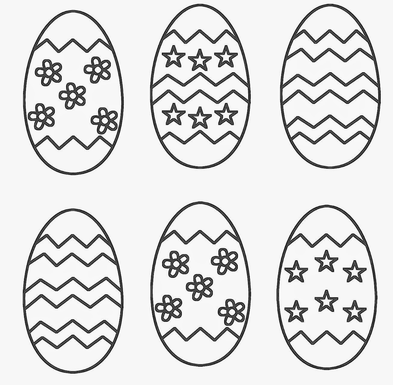 Easter Egg Coloring Sheets Free