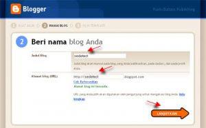 Memberi nama blog
