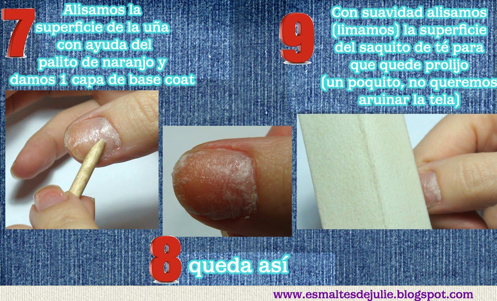 Esmaltes de Julie: Como reparar uñas con 1 saquito de té