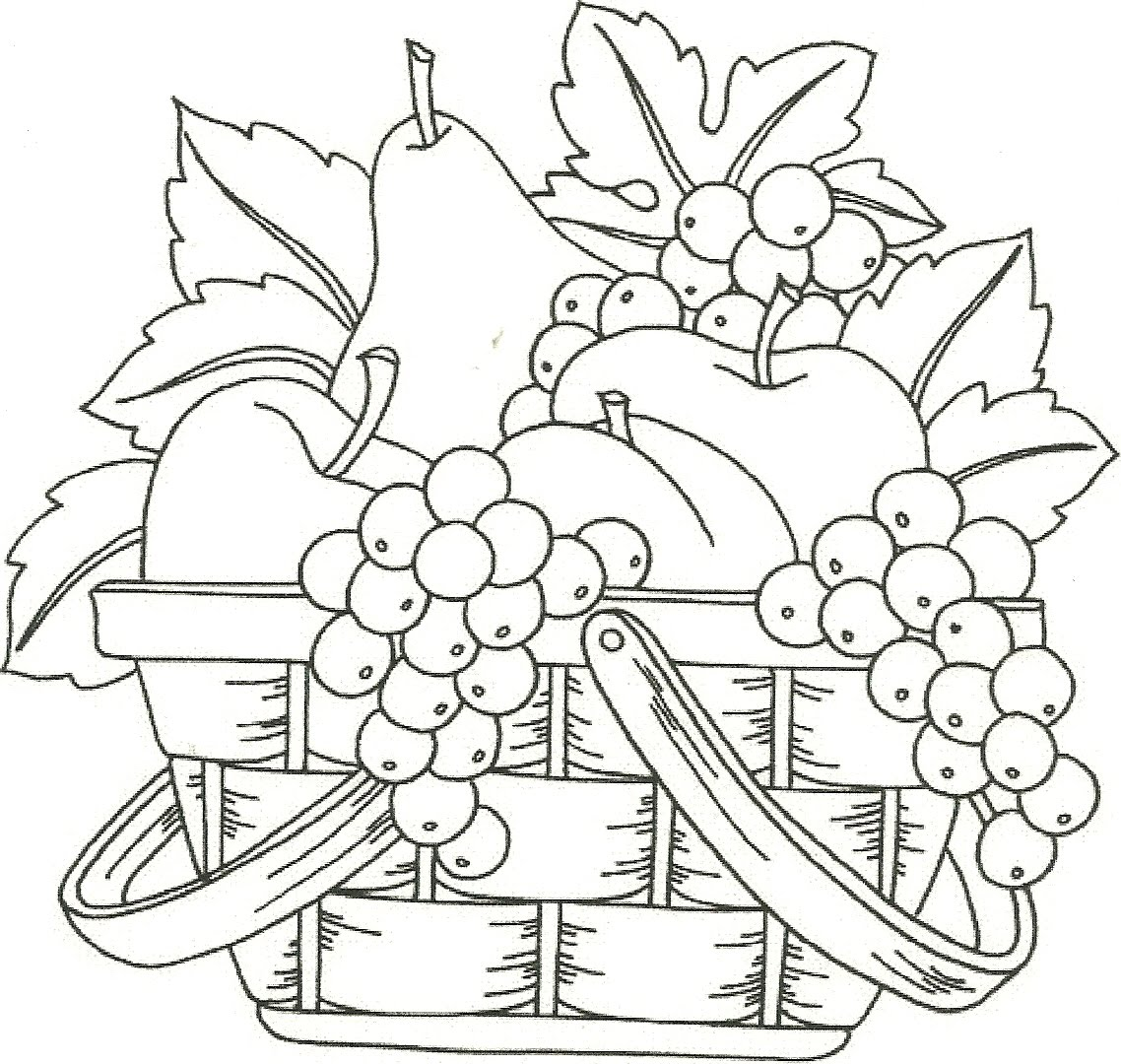 free coloring pages of frutas dibujos