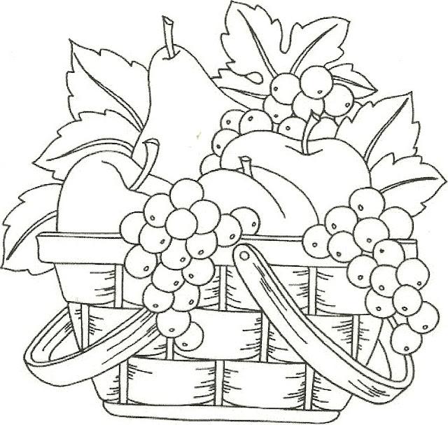 Dibujos de frutas para imprimir y colorear
