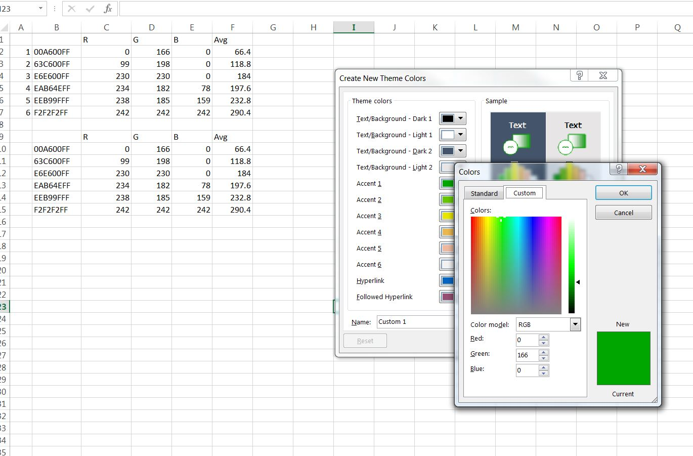 Advanced graphs using excel define own color pallettee you can add color one by one up to 6 nvjuhfo Gallery