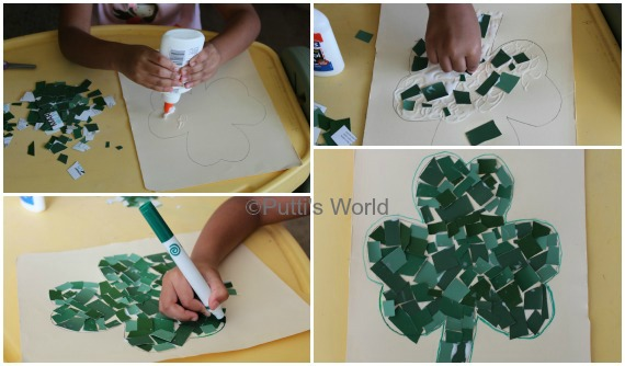 Shamrock Mosaics St Patrick's Day Kids Craft