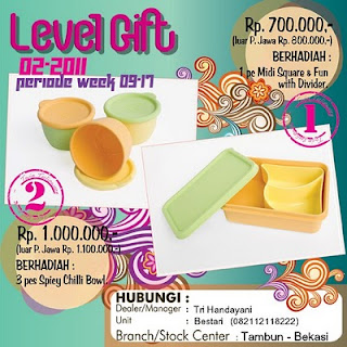 Level Gift Tulipware 1 & 2 | Maret - April 2011