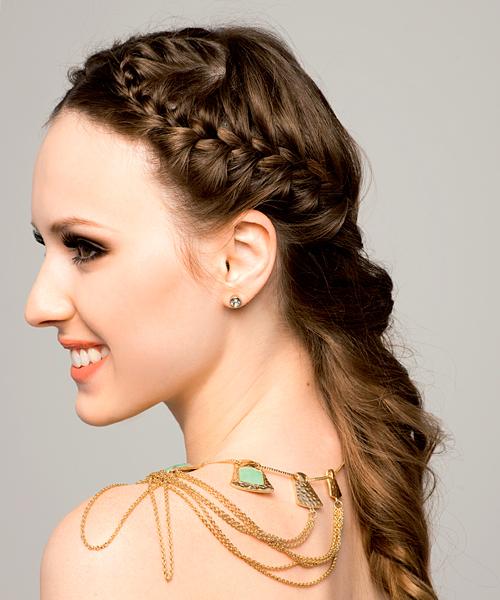 Peinados Con Trenzas Para Fiestas De Noche - Peinados para fiestas de noche fáciles y sencillos Mujeres Femeninas