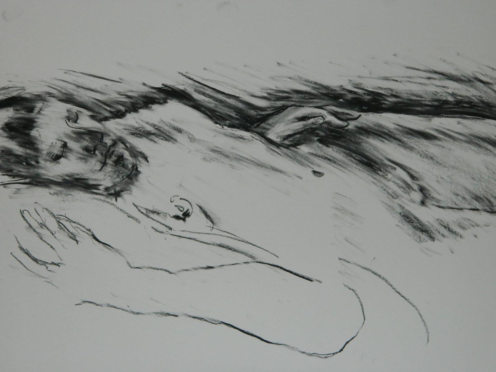 One Line Artist Statement : Line and texture artist statement drawing