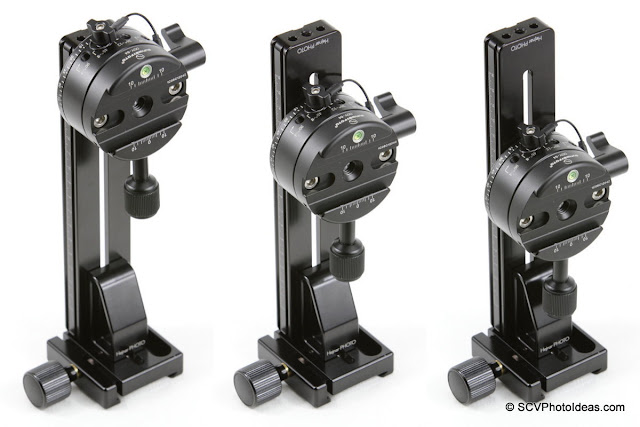 Hejnar PHOTO G21-80 based Vertical Rail - Sunwayfoto DDP-64S Index Rotator - positioning