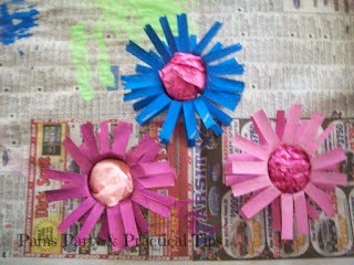 Making the Cardboard Tube Flower Centers