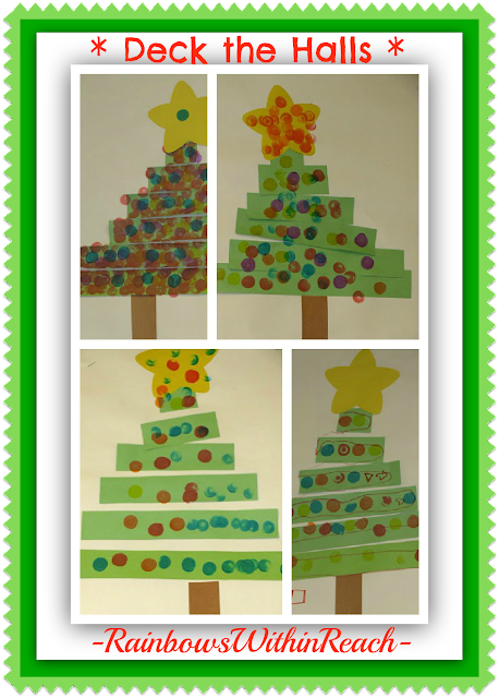 Simple Christmas Tree Craftivity for Children at RainbowsWithinReach
