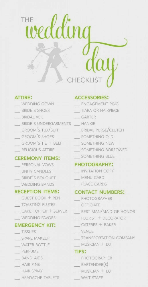 Wedding reception decoration checklist wedding for What to know about planning a wedding