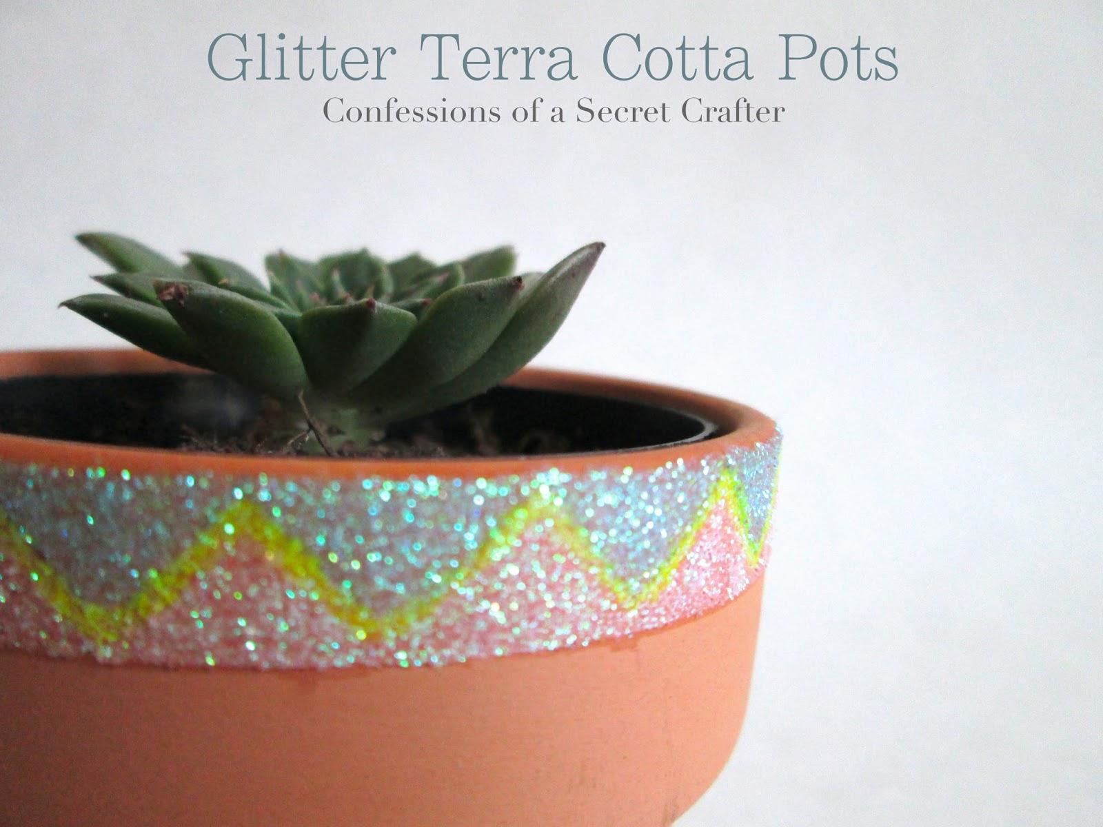 Glitter Terra Cotta Pot