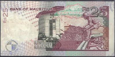 Mauritius 25 Rupees 1998 P# 42