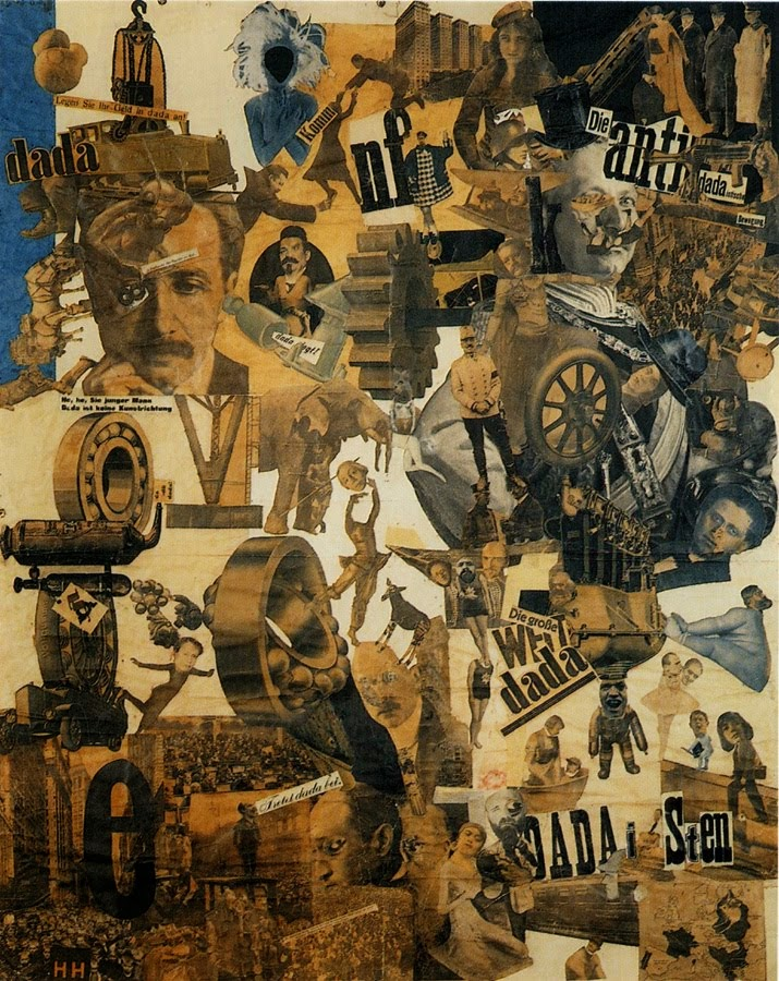 "Hannah Höch, ""Cut with the Kitchen Knife Through the Beer Belly of the Weimar Republic, Berlin"