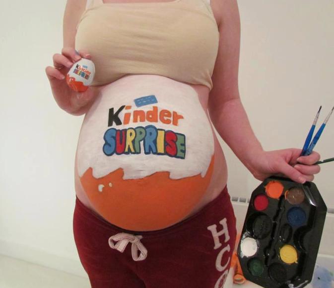 Фото беременных с разрисованным животиком 34