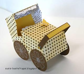 Kinderwagen für Baby Geschenke aus Stampin Up Stanze Umschläge für Big Shot