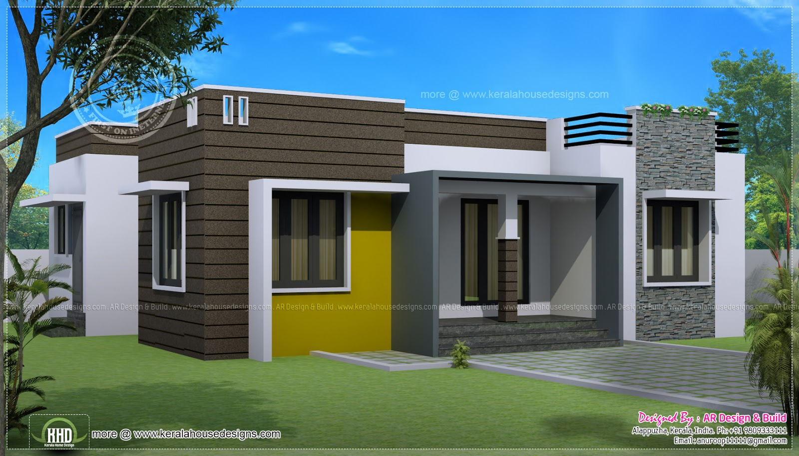 1000 sq-ft house with provision for stair and future expansion