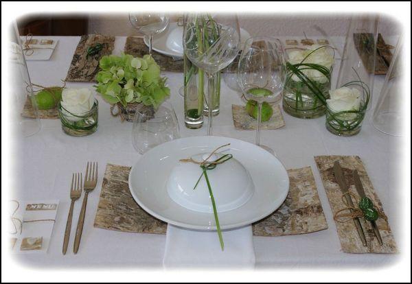 Zelles f minin d coration de table printani re - Decoration table pour anniversaire 40 ans homme ...