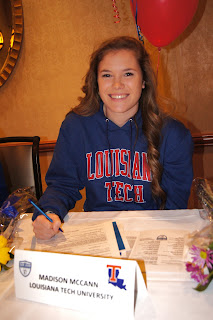 McCann of Elk Grove signs soccer letter with Lousiana Tech