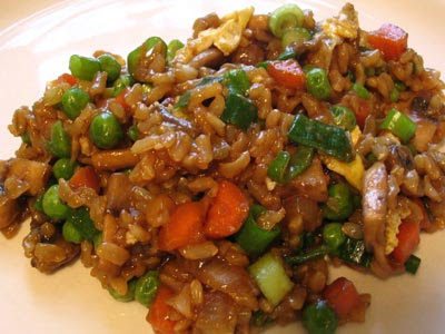 Fried Brown Rice and Vegetables