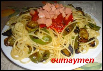 spakiti 4 سباكيتي بالخضر المقلية وكاشير