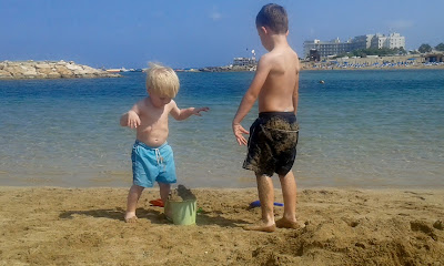 boys on the beach