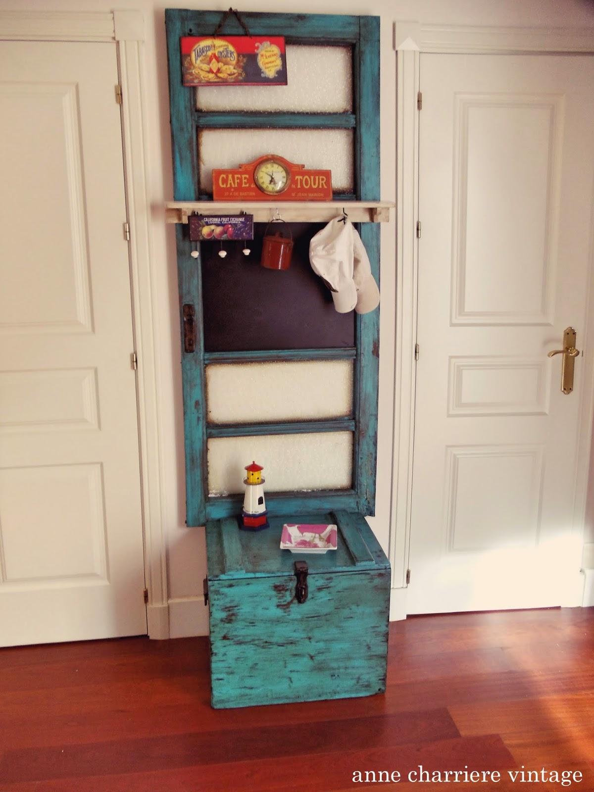 anne charriere vintage, baúl de libros reciclado,