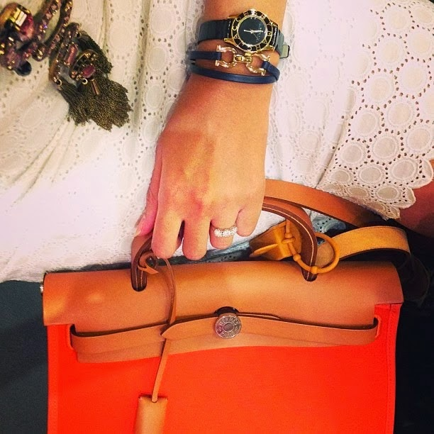 hermes Garden Party medium poppy orange