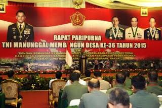 Panglima TNI Buka Rapat Paripurna TMMD