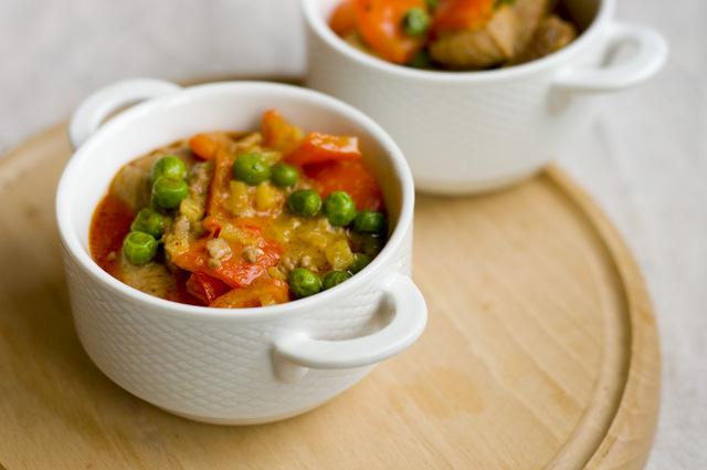 Czerwone curry z wieprzowiny