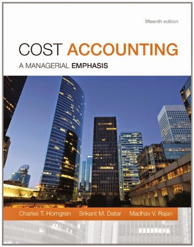 cost accounting a managerial emphasis 15th edition test bank pdf