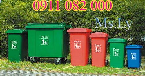 Thung rac nhua, thung rac cong cong nhua HDPE, Composite 120L, 240L, 660L, 1100L,... gia re