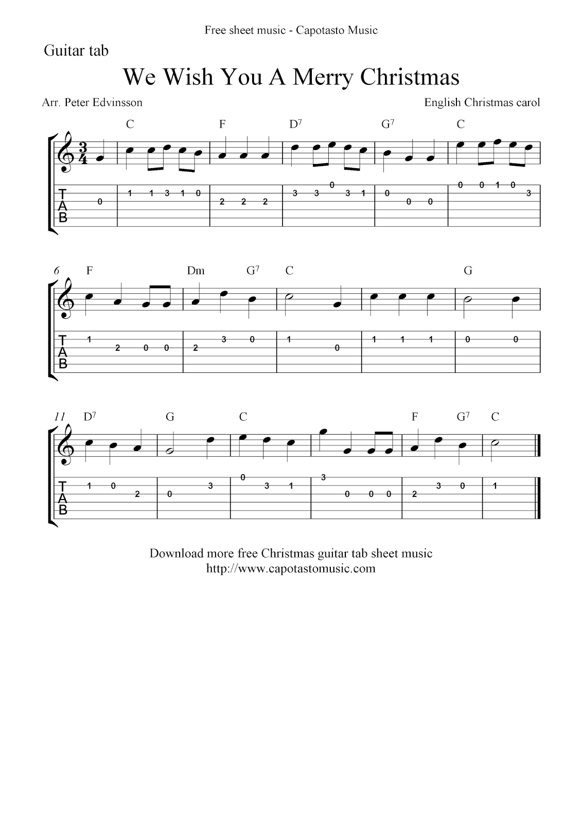 Ozipto music sheets chords tablature and song lyrics ukulele chords we wish you a merry christmas hexwebz Image collections