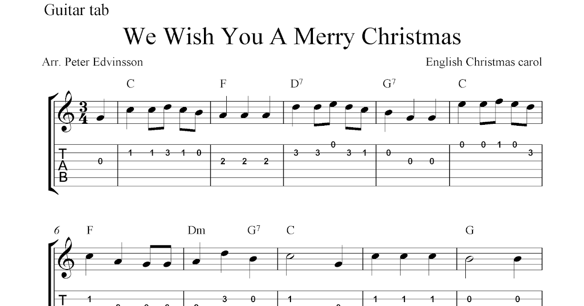 We Wish You A Merry Christmas Guitar Chords