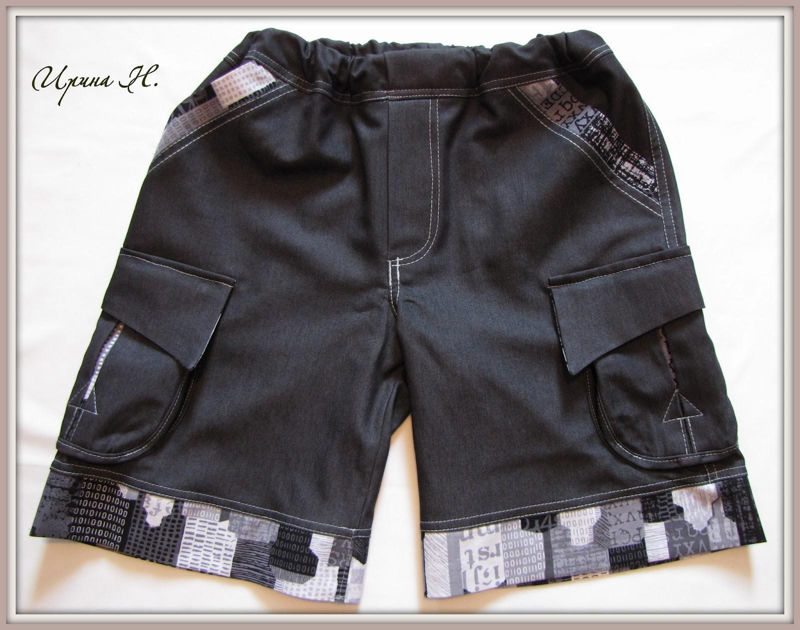 Как сшить шорты с накладными карманами XL Мастер-классы 73