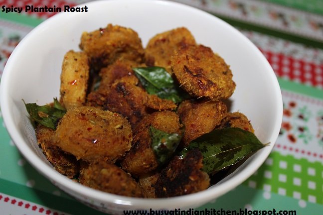 spicy plantain roast