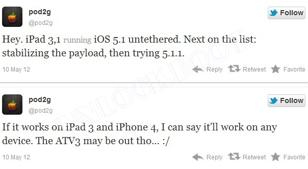 iPhone 4 iOS 5,1 jailbreak Untethered