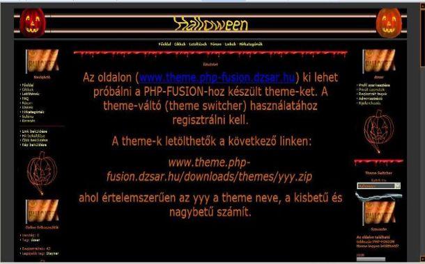 Free Black Halloween Php-fusion Style Theme