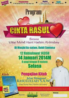 MAJLIS CINTA RASUL 14/1/2014