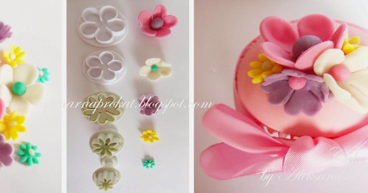 Как сделать маленькие цветочки из мастики без вырубки